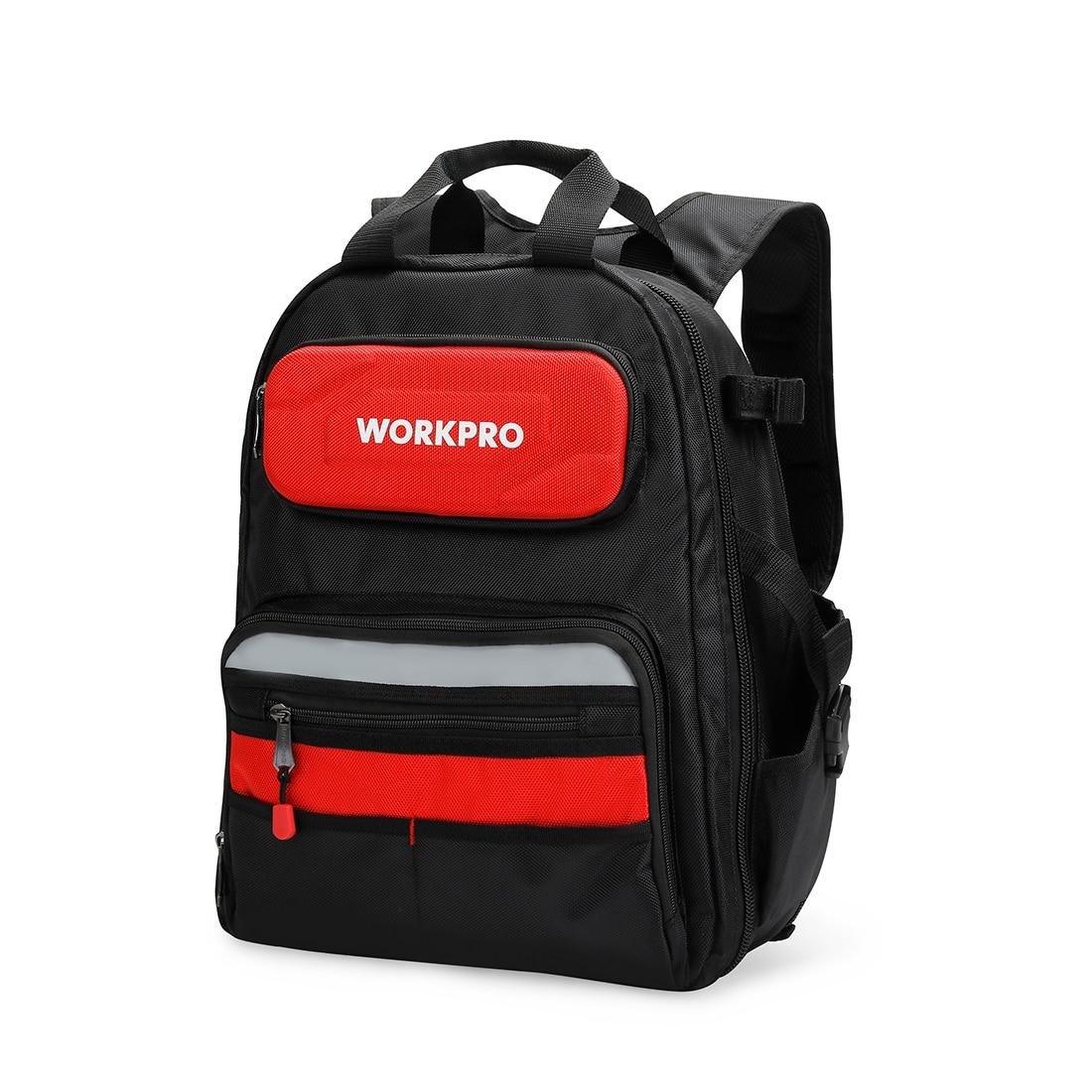 WORKPRO New Backpack Tradesman Organizer Bag Multifunction Knapsack Toolbag Waterproof Tool Bags