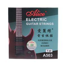 Alice a503sl guitarra elétrica b 2-nd e 1-st cordas guitarra amarrando. 009 0.23mm .011 0.28mm 448c