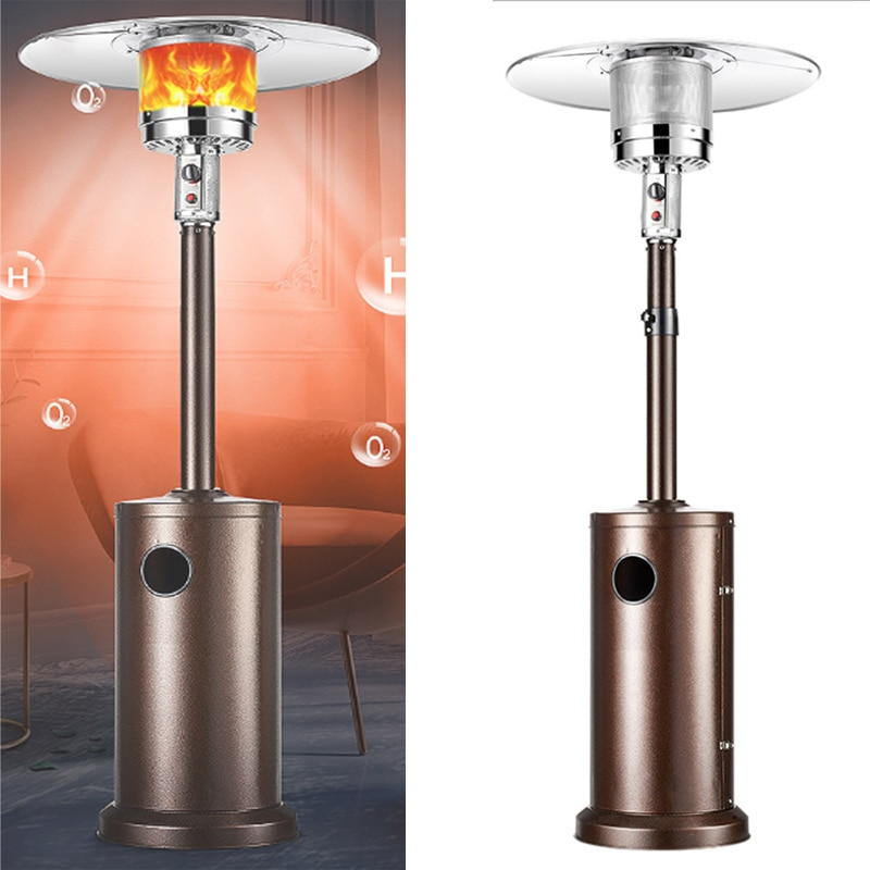 48,000 BTU Patio Heater Liquid Propane Gas Powder Stove Floorstanding Umbrella Air Warmer for Christmas Party Garden Outdoor