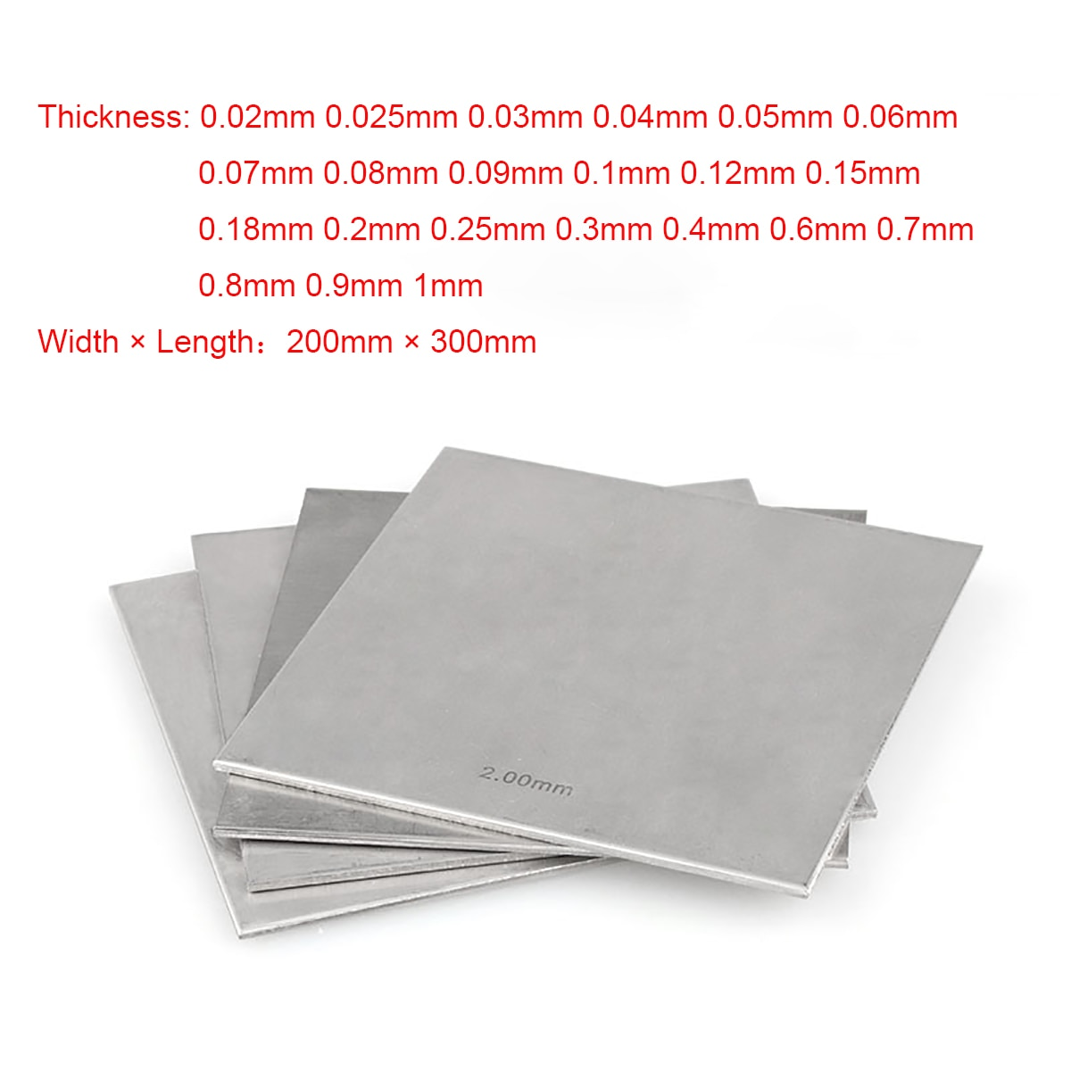 customized authentic 304 321 316 stainless steel col rolled bright thin foil tape strip sheet plate coil roll 5pcs 200x300mm 304 Stainless Steel Square Plate Polished Plate Sheet Thickness 0.02 to 1mm