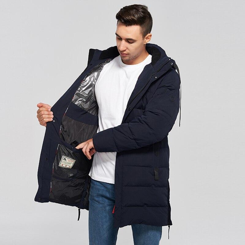 Новинка 2021, Зимняя Мужская модная парка, Мужская Толстая теплая Длинная утепленная парка, куртка с хлопковой подкладкой, Мужское пальто выс...