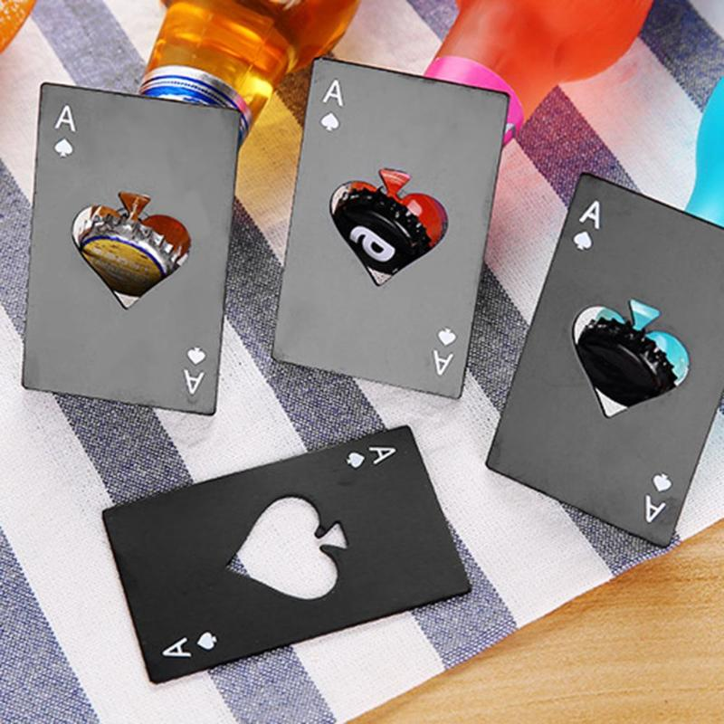 Abridor de póker de acero inoxidable, abridor de botellas de Casino, tamaño...