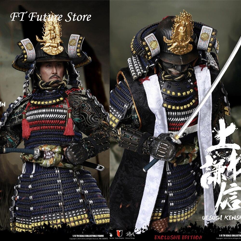 Em estoque se043/se044 1/6 comandante militar japonês diecast armadura uesugi kenshin o dragão de echigo padrão/deluxe ver.