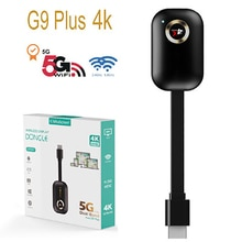 Wireless Display Adapter 5G 1080P/4K HDMI WiFi Dongle Screen Mirroring Adapter, Phone to TV/Projecto
