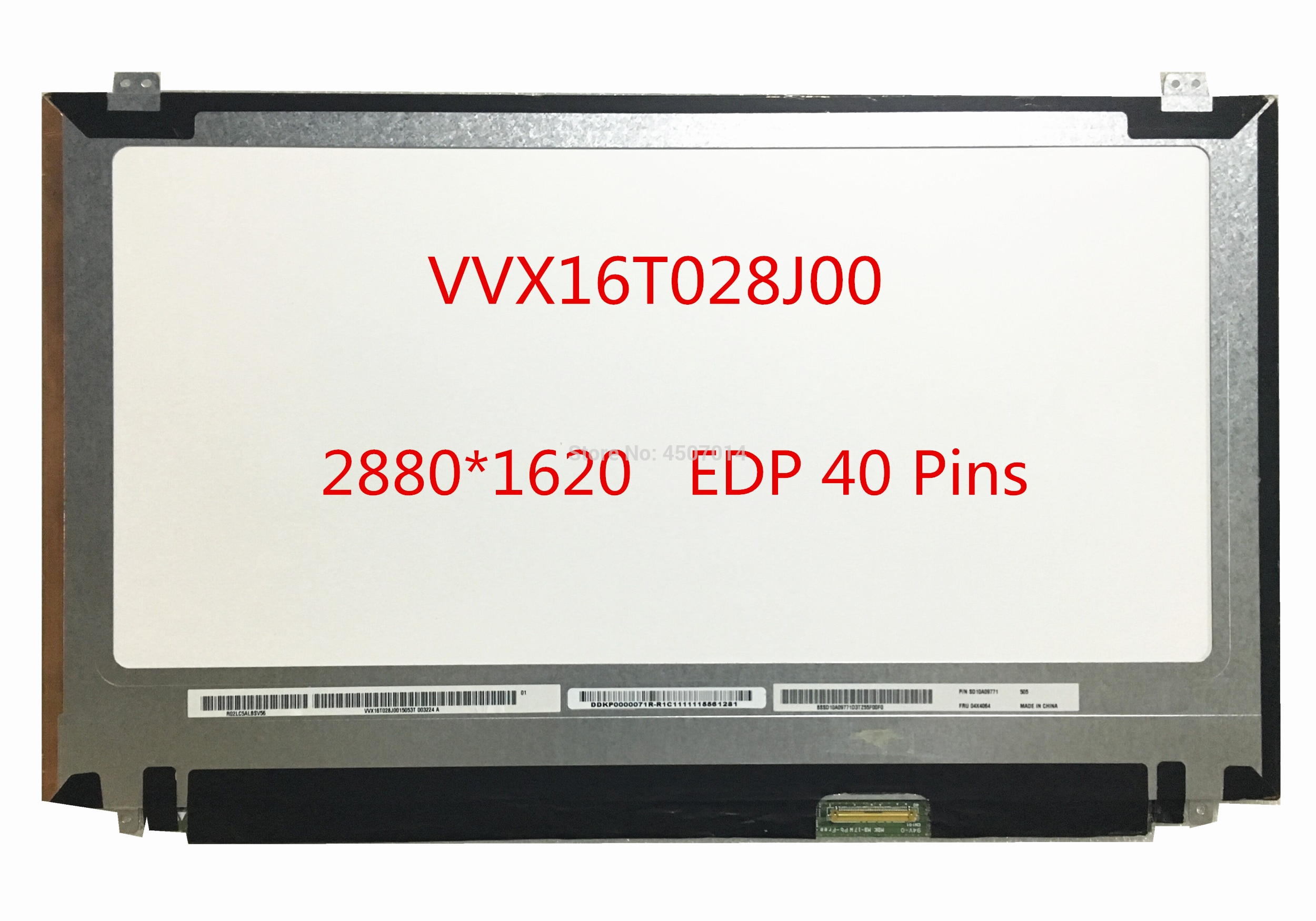 Frete Grátis VVX16T028J00 apto para Lenovo W540 W540P W550S T550 Laptop Tela Lcd 2880*1620 EDP 40 Pinos