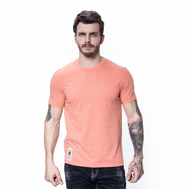Leisure T-Shirt Men's Short Summer Solid Cotton Elastic Breathable Shirt Short Casual Sports Polo T Shirt New Design Clothing