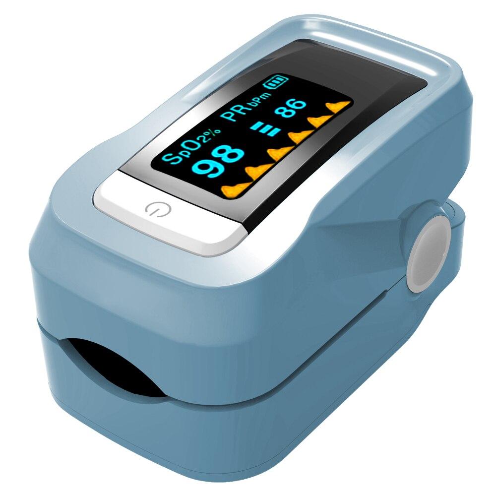 Portable Fingertip Pulse Oximeter Household Digital Blood Oxygen Saturation Meter Finger SPO2 Pulse Rate Monitor Health Care