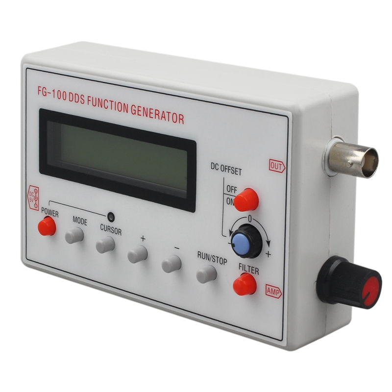¡Promoción! FG-100 contador de frecuencia generador de señal función DDS 1Hz-500 KHz