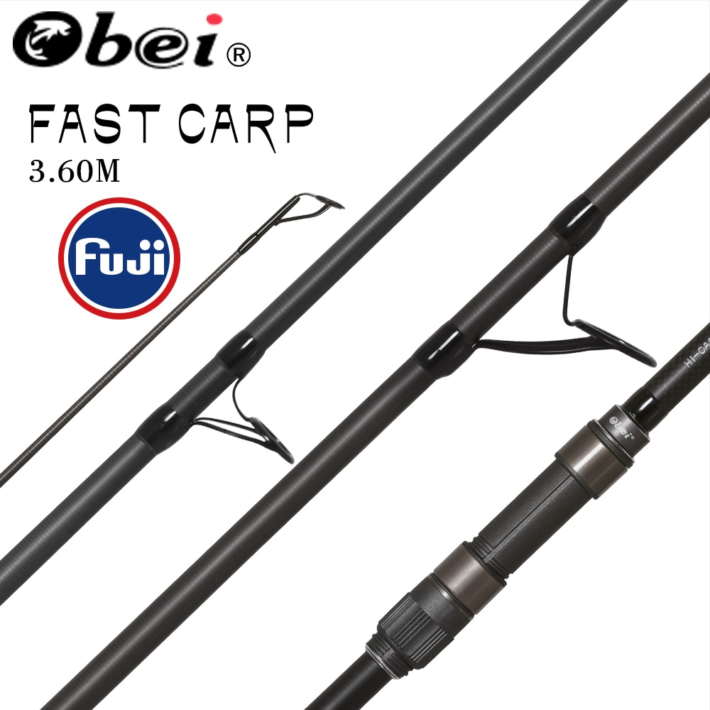Obei Purista Carp Fishing Rod  Carbon Fiber Fuji  Spinning Rod Pesca 3.5 3.0lb Power 40-160g 3.60m Hard Pole Surf Rod obei purista carp fishing rod carbon fiber fuji spinning rod pesca 3 5 3 0lb power 40 160g 3 60m hard pole surf rod