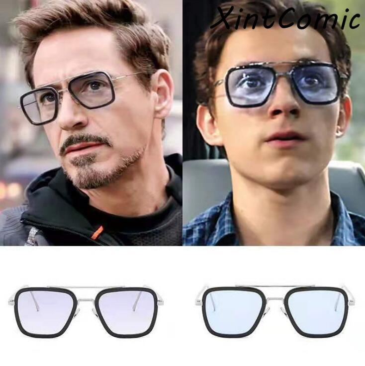 2019 película Spiderman lejos de casa Iron-Man gafas Spider Man Peter Parker Cosplay gafas de sol