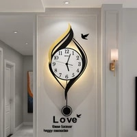 classic pendulum hanging wall clock modern design kitchen decor wall clocks metal wall art horloge living room decoration bi50wc