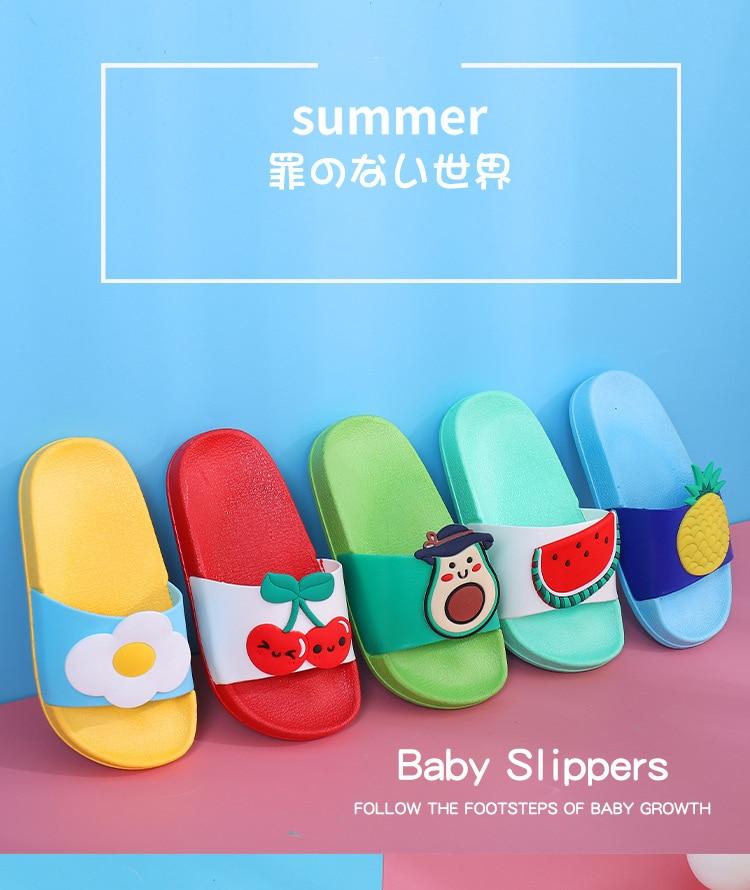 Summer Kids Slippers Toddler Baby Boys Girls Cute Cartoon Non-slip Sandals Slippers Flip For Kids Garden Shoes Dropshipping