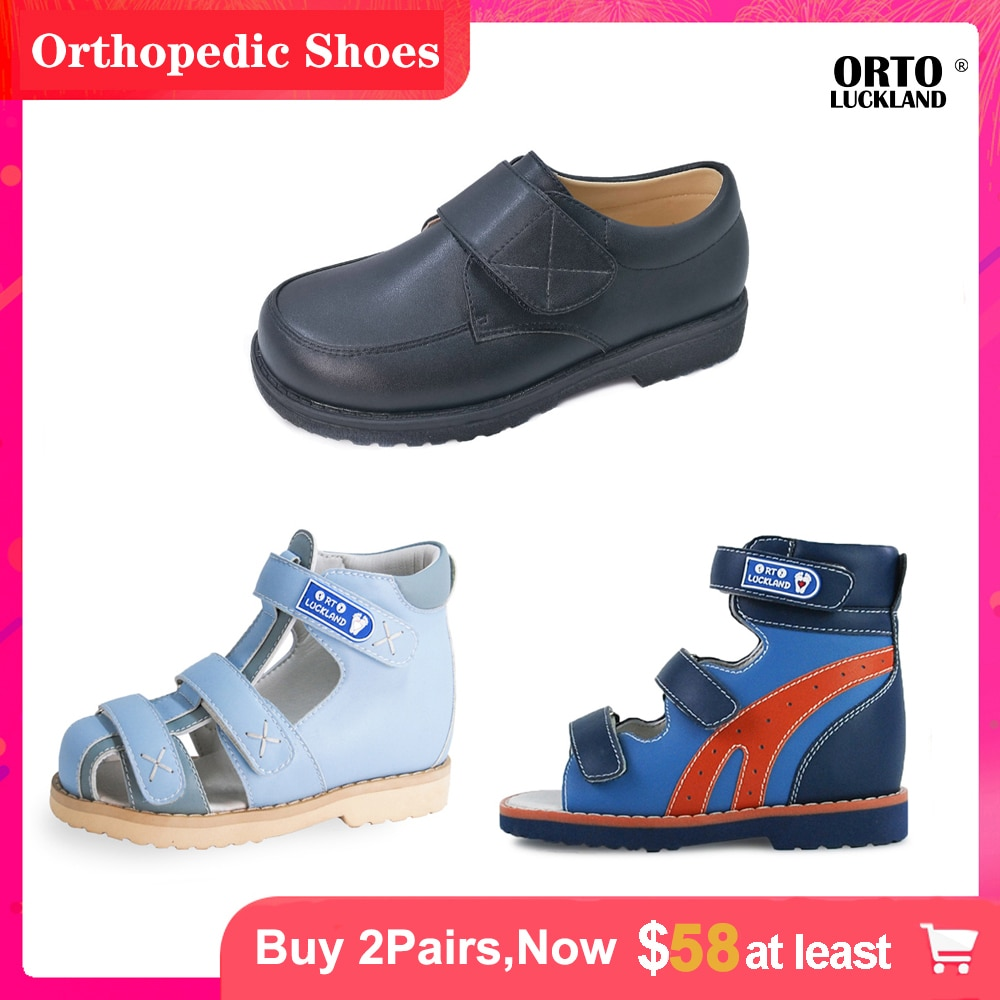 Children Orthopedic Leather School Casual Sport Cool Summer Fashion Stylish Corrective Luxury Sandal Shoes for Kids Baby Toddler