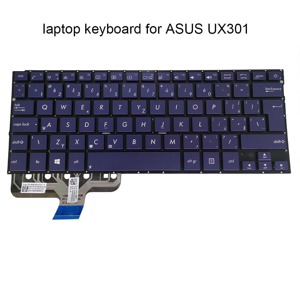 CS الخلفية لوحة المفاتيح ل ASUS zenbook UX301 LA UX301L UX301LA التشيكية تشيكوسلوفاكيا الأزرق الخلفية استبدال لوحات المفاتيح 0KNB0 362ACZ00 يعمل