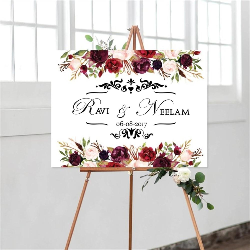 Calcomanías personalizadas para el suelo de la boda de lápiz con monograma para el novio y la novia para la pared... WL1048