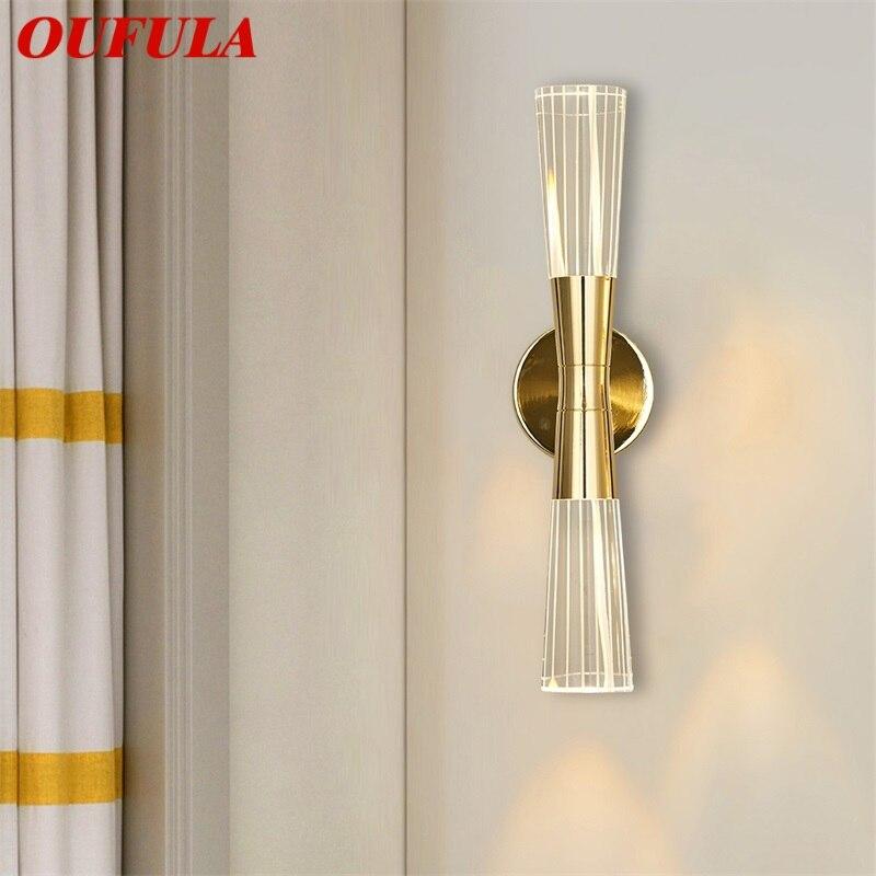 Ouvola-مصباح حائط زجاجي LED ، تصميم حديث ، إضاءة داخلية ، إضاءة سقف زخرفية ، مثالية لغرفة النوم ، غرفة المعيشة ، المكتب ، الفندق.