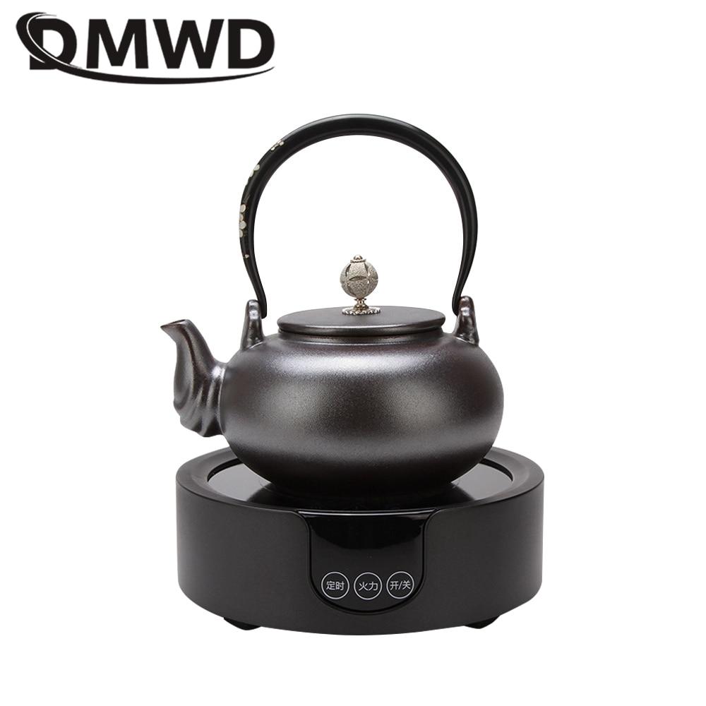 DMWD المنزلية الكهربائية السيراميك موقد سطح المكتب سخان مياه الشاي تختمر موقد ماكينة إعداد الشاي المحمولة لوحة التدفئة التعريفي طباخ
