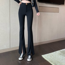 Suit Casual Pants 2021 New Refined Stylish and Versatile High Waist Slimming Harem Slightly Flared S