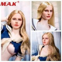 16 female woman girl young lady head carving headplay chloe moretz curls head sculpt for 12 inches action figure body