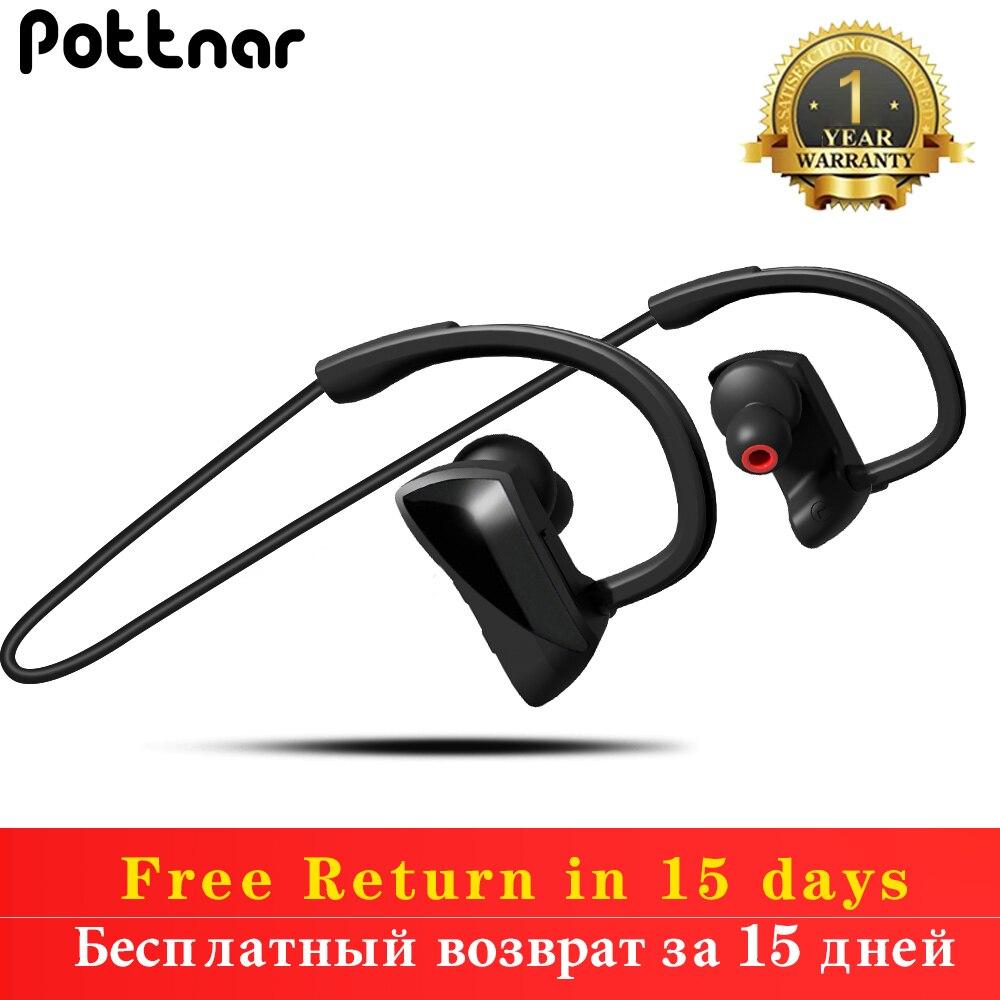 Pottnar nuevo IPX7 correr impermeable deportes auriculares inalámbricos Bluetooth Auriculares auriculares micrófono de manos libres para teléfono móvil correr