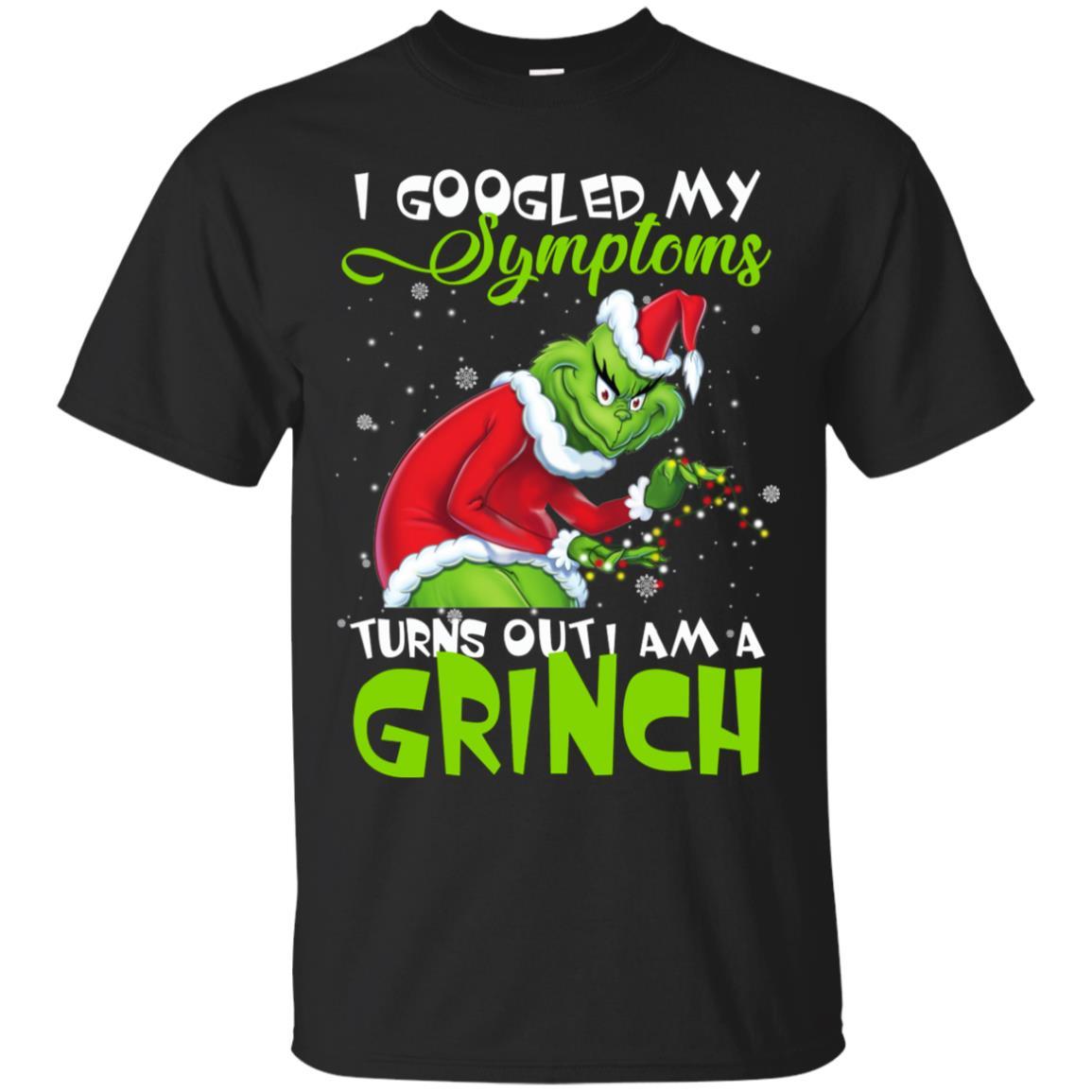 My Symptoms Is A Grinch. Funny Christmas Men's T-Shirt. Summer Cotton Short Sleeve O-Neck Unisex T Shirt New S-3XL