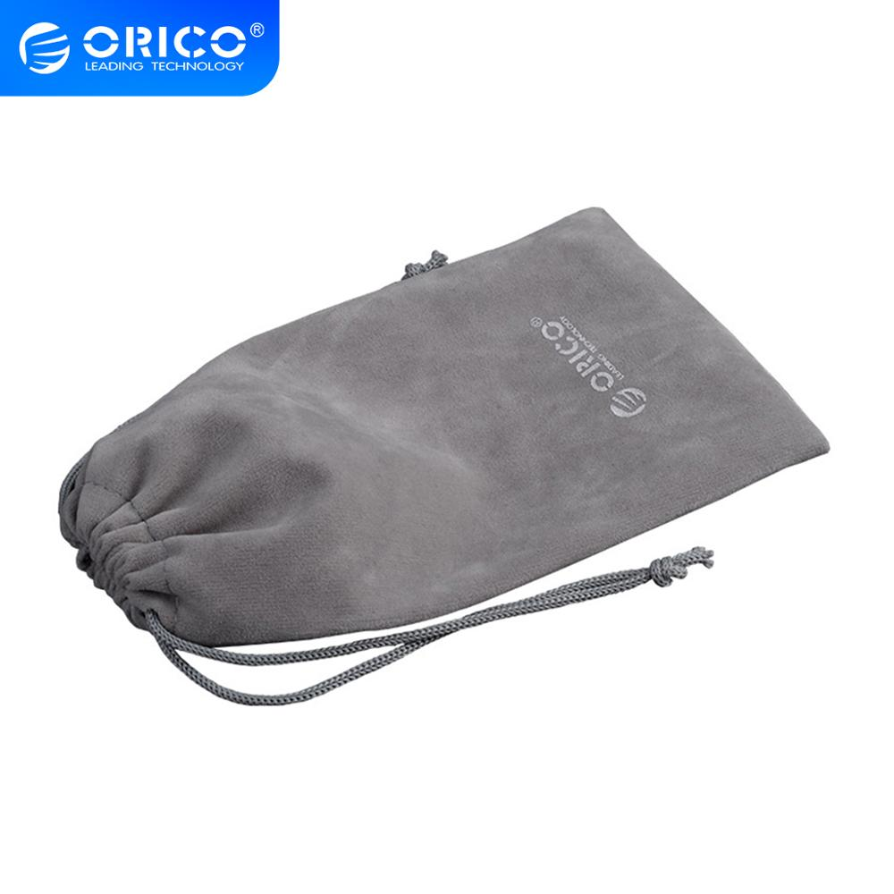 ORICO SA1810 accesorios para auriculares de teléfono bolsa de terciopelo de almacenamiento para cargador USB/Cable USB/Banco de energía/teléfono y auriculares