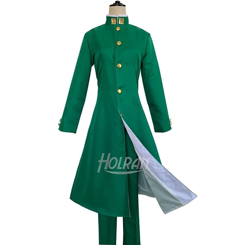 Disfraz de cosplay de aventura extraña de Anime cómic de combate Kakyoin Noriaki abrigo camisa pantalones traje carnaval uniforme de fiesta traje