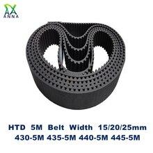 Courroie synchrone HTD 5M dents C   430/435/440/445 largeur 15/20/25mm 86 87 88 89 HTD5M 430-5M 435-5M 440-5M M-5M