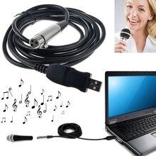 Promotion-3 M USB mâle à XLR femelle Microphone USB micro lien câble nouveau