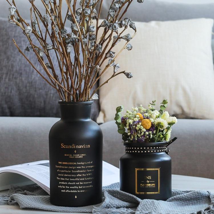 Vaso de Flor para Decoração de Casa Vaso de Vidro para Flores Decoração de Casa para Flor Estilo Nórdico Hidroponia Planta Flor Artificial