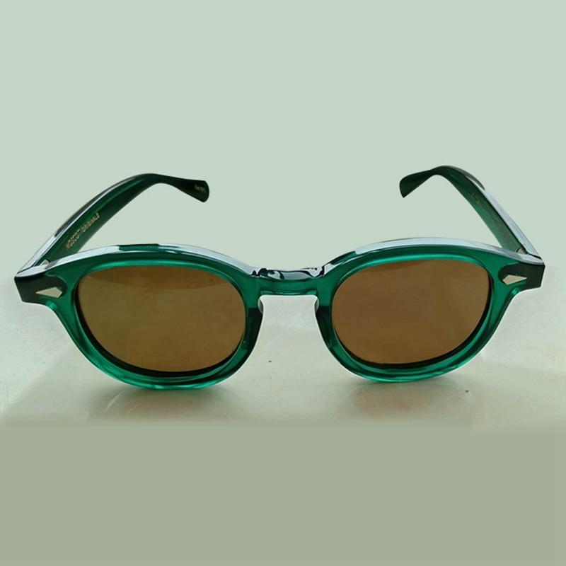 Fashion Johnny Depp Sunglasses Men Women Polarized Sun Glasses Brand Vintage Acetate Frame Lemtosh E