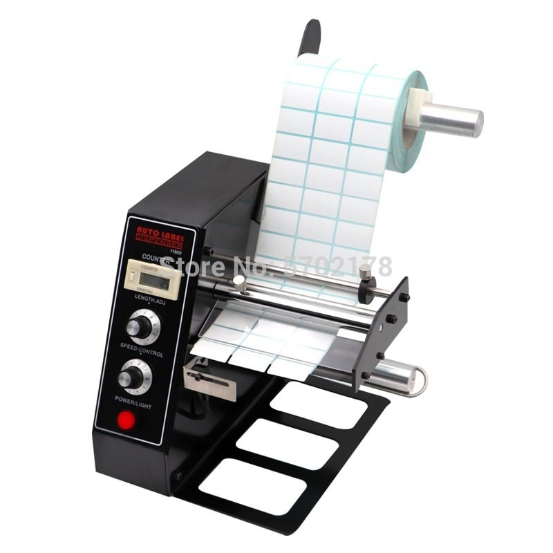 Auto Label Dispenser Device Automatic Sticker Separating Machine AL-1150D NEW Digital Control 4-140mm Label stripping machine