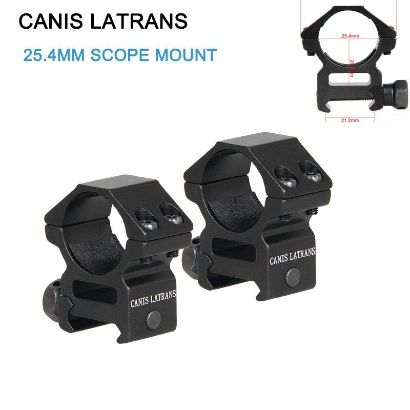 Canis Latrans montaje alcance para 1 pulgada tubo de 21,2mm carril Picatinny Weaver perfil medio (conjunto de 2) gs24-0120B