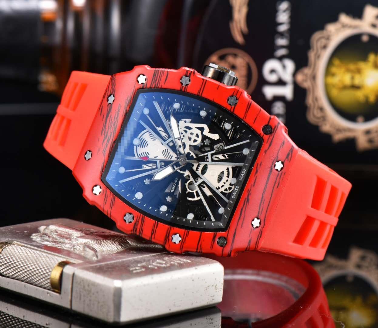 Relógio masculino rm richard relógios de quartzo de luxo marca superior mille relógio masculino designer wristwacth resistente à água reloj hombre