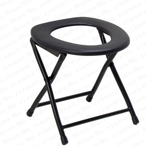Foldable Bedside Bathroom Potty Toilet Commode Seat Chair For Elderly Disabled People Pregnant Women No-slip Feet Shower Chairs