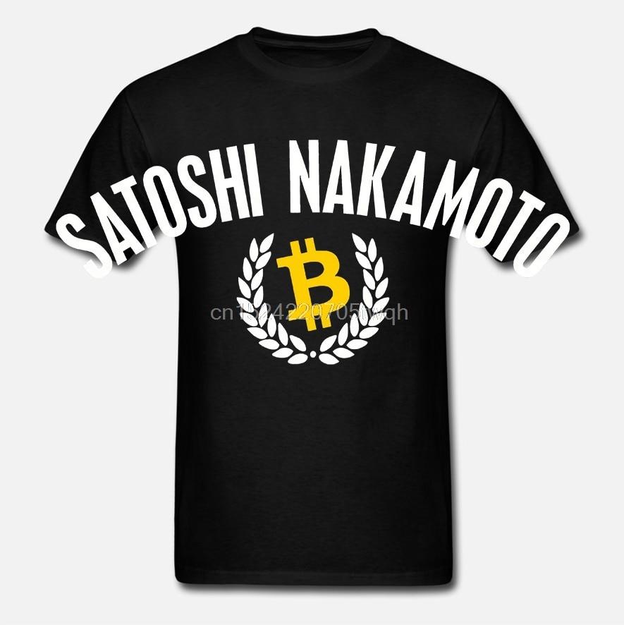 Satoshi Nakamoto T-Shirt - BTC Bitcoin Cryptocurrency Blockchain - 6 cores Novas Camisetas Engraçadas Encabeça Tee Nova Unisex