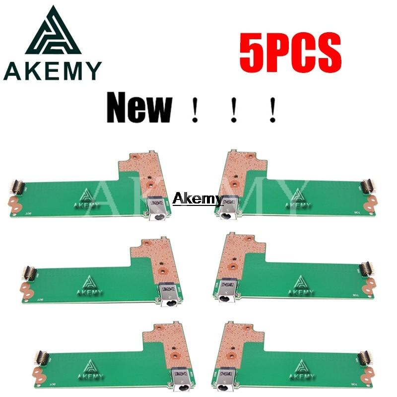 ¡Nuevo! 5 uds X75VD_DC_BOARD REV 2,0 para Asus X75A X75A1 X75V X75VD X75VC X75VB Placa de alimentación CC interruptor de botón de 60-NC0DC1000