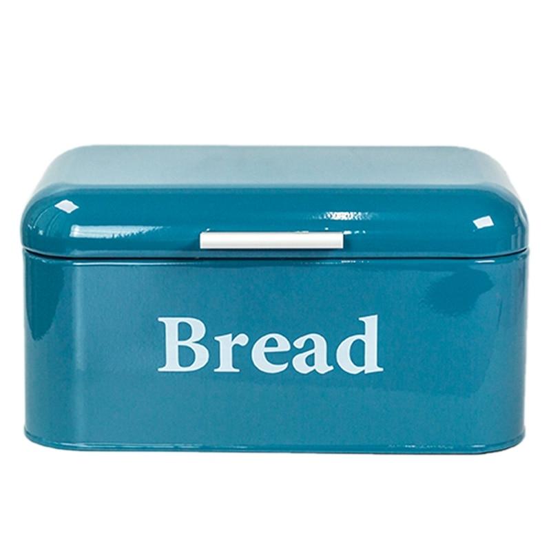 صندوق الخبز العتيق AF88-خزانة حديد للوجبات الخفيفة ، تشطيب سطح المكتب ، صندوق تخزين مقاوم للغبار ، حاوية تخزين الطعام ، رف المطبخ