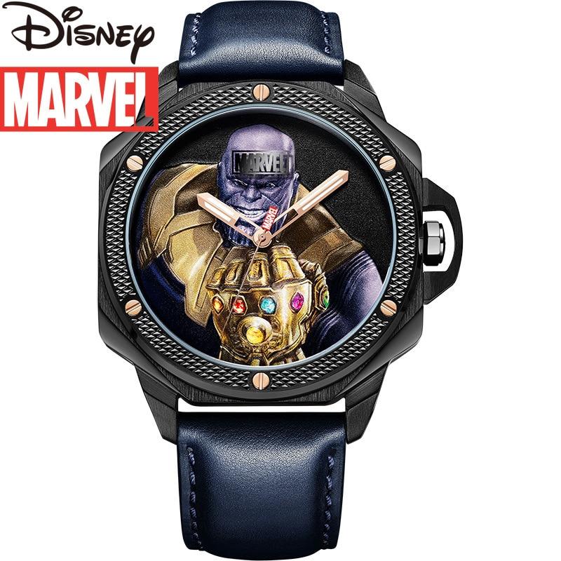 Disney 2021 New Belt Marvel Watch Men's Quartz Casual Trend Personality Iron Man Waterproof Watch