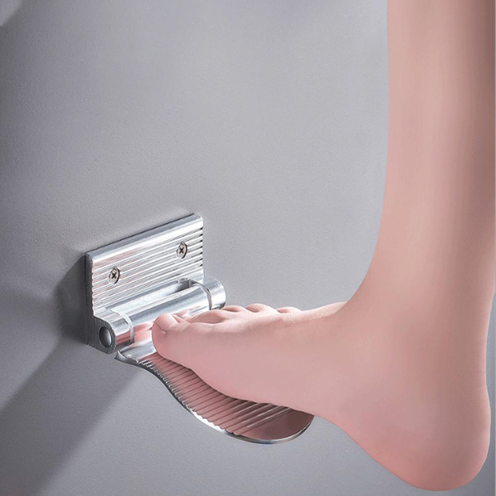 دواسات حمام غير قابلة للانزلاق ومسند للقدمين ودواسات سوداء لكبار السن والحوامل