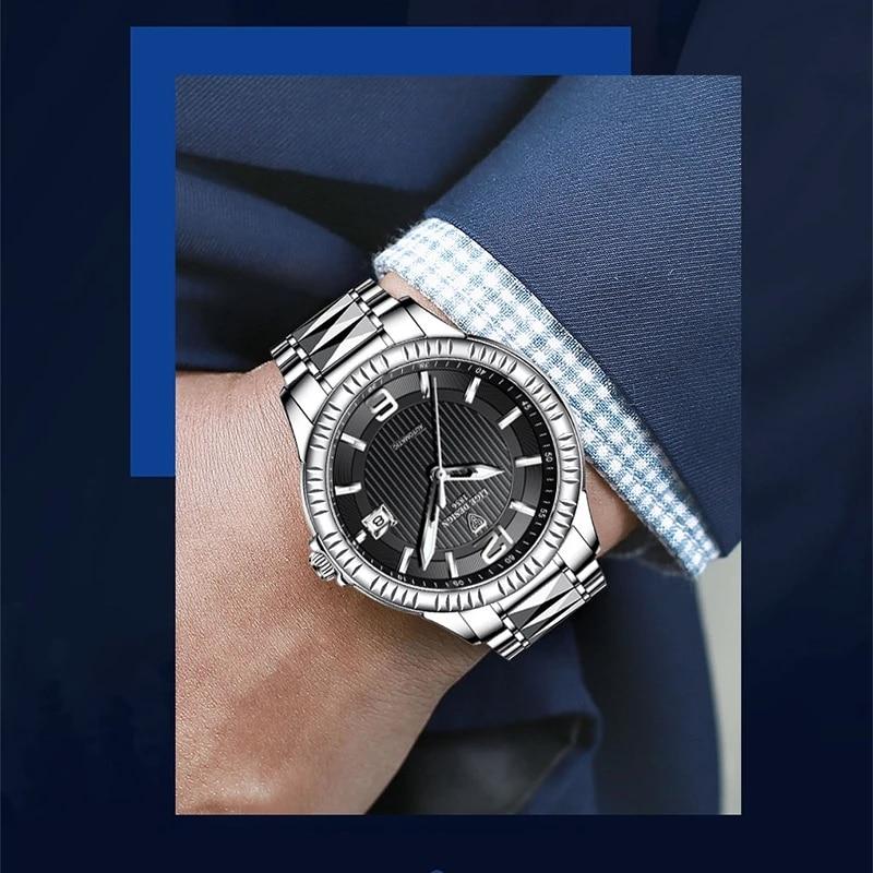 LIGE Top Brand Luxury Automatic Mechanical Anti-vibration Clocks Stainless Steel Waterproof Sports Luminous Men Watch Tourbillon enlarge