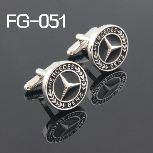 Acessórios masculinos moda abotoaduras frete grátis abotoaduras de alta qualidade para homem 2019 abotoaduras carros logotipo bz FG-051 atacado