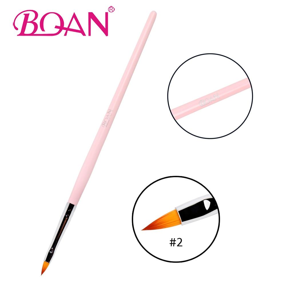 BQAN 1 PC Nail Art Pen Brush 3D Sculpture Nail Art Drawing Brush For Nail Beauty Manicure Art Tool Pink Wooden Handle Nylon Hair