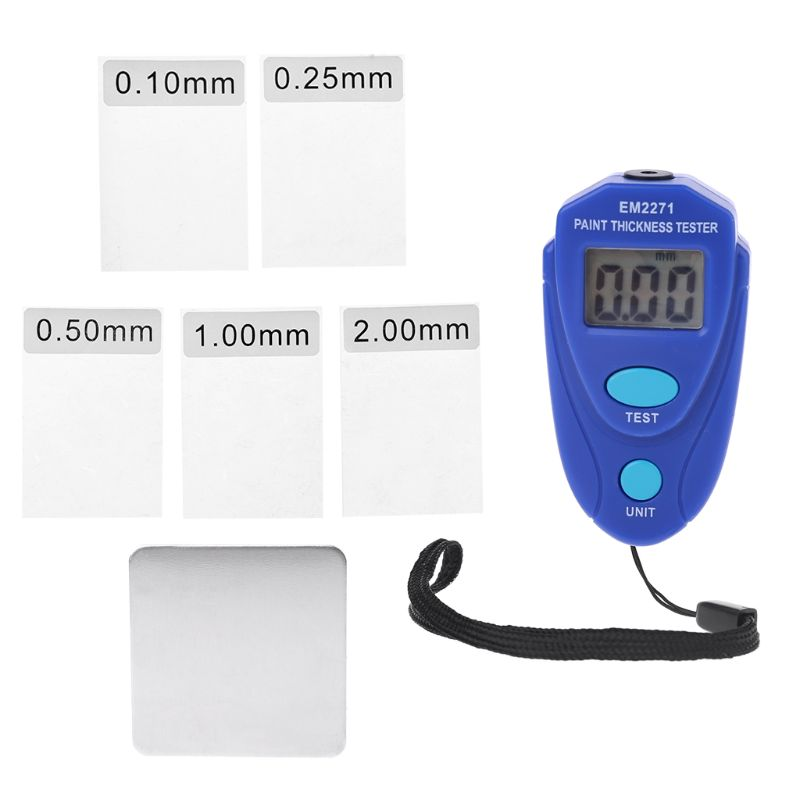 Alle-Zon EM2271 Digitale Mini Diktemeter Autolak Tester Diktemeter Auto Coating Meter Diagnose-Tool Ultrasone