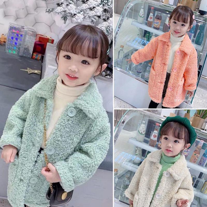 Outono inverno meninas jaqueta grosso quente meninas casaco crianças jaqueta de inverno algodão meninas casaco de pele crianças roupas do bebê outerwear 2021