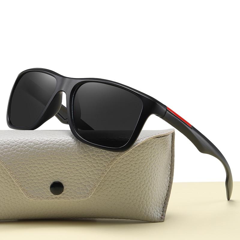 New Fashion Designer Men Polarized Sunglasses Plastic Square Glasses Retro Outdoor Driving Mirror Lu