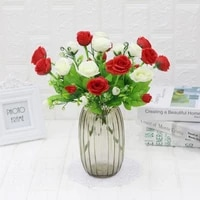 a bunch of wealthy rose flower artificial flower imitation plants wedding table decoration valentines day present home decor
