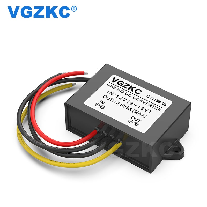 12V to 13.8V 5A DC Power Boost Converter 9-13V 70W Car Waterproof CE RoHS