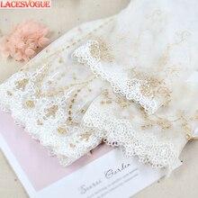 9 Yards 12-21 Cm Mesh Borduren Lace Trim Handgemaakte Diy Garment Handwerken Naaien Accessoires Stof Kleding Decoratie 231