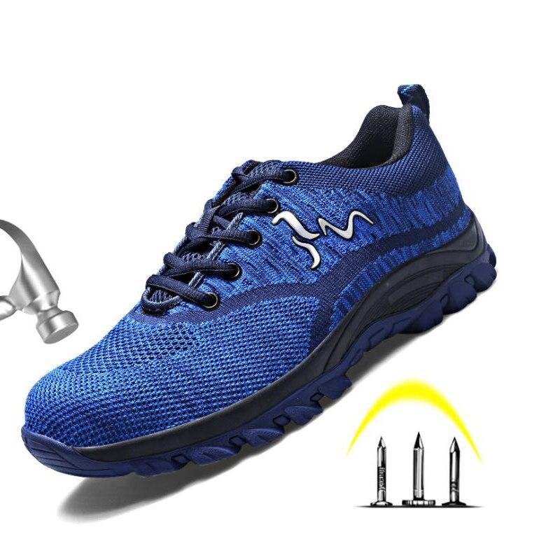 Zapatos de punta de acero para hombres y mujeres para la construcción Industrial zapatos de seguridad para el trabajo zapatillas al aire libre de senderismo Trekking Trail compuesto